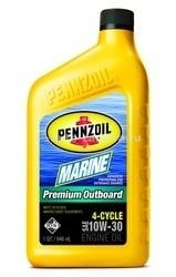 Масло Pennzoil 10W-30 Marine Premium Outboard 4-Cycle 071611915267, 0.946л