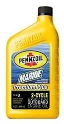 Масло Pennzoil Marine Premium Plus Outboard 2-Cycle 071611938716, 0.946л