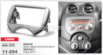 Переходная рамка для Renault Pulse, Nissan March 2010 + 2 din RP-NSMC (Carav 11-294)