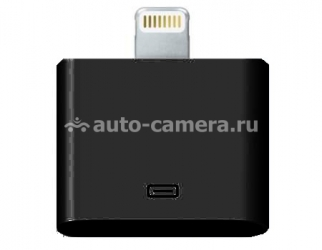 Переходник для iPhone 5 / 5S / 5C, iPad 4 и iPad mini Kingyue Lighting to 30-pin adaptor, цвет black (KYIA-007WB)