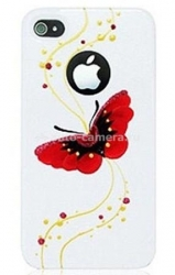 Пластиковый чехол для iPhone 4/4S iCover Butterfly, цвет Gold Line White (IP4-HP-BG/W)