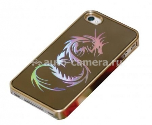 Пластиковый чехол для iPhone 4/4S iCover Combi Dragon, цвет Gold/Gold (IP4S-CDR-GD/GD)