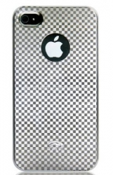 Пластиковый чехол для iPhone 4/4S iCover High Glossy, цвет Check Pattern Silver (IP4-HG-CH/S)