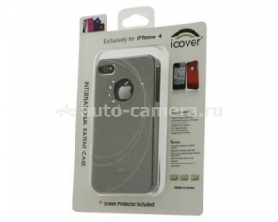 Пластиковый чехол для iPhone 4/4s iCover Swarovski Geometric Mirror, цвет Dark Silver (IP4-SW4-DS)