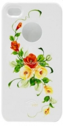 Пластиковый чехол для iPhone 4/4S iCover Vintage Rose, цвет White/Orange (IP4-HP/W-VR/OR)