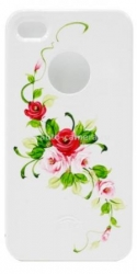 Пластиковый чехол для iPhone 4/4S iCover Vintage Rose, цвет White/Pink (IP4-HP/W-VR/P)