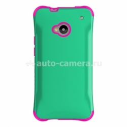 Противоударный чехол для HTC ONE Ballistic Aspira Series, цвет mint green/strawberry pink (AP1132-A035)