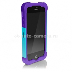 Противоударный чехол для iPhone 5 / 5S Ballistic Shell Gel (SG) Series, цвет purple/teal (SG0926-M015)