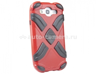 Противоударный чехол для Samsung Galaxy S3 (i9300) G-Form Extreme Grid Case, цвет black/red (EPHS00106BE)