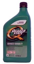 Масло QuakerState 20W-50 Advanced Durability 550024062, 0.946л