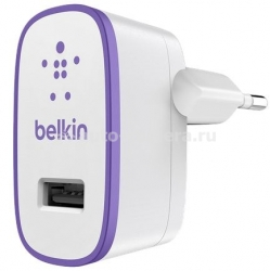 Сетевое зарядное устройство для iPhone, iPod, iPad, Samsung, HTC Belkin USB Home Charger, цвет Purple (F8J052VFPUR)