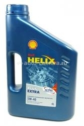 Масло Shell 5W-40 Helix Plus Extra, 4л
