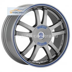Диск Sparco 7x16 5x112 ET48 D73,1 Rally Matt Silver Tech blue lip