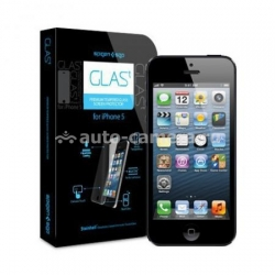 Стеклянная защитная пленка для iPhone 5 / 5S SGP Screen Protector GLAS.t Premium Tempered Glass (SGP09435)