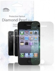 Защитная пленка для экрана iPhone 4/4S iCover Screen Protector Diamond Pearl (IP4-SP-DP)