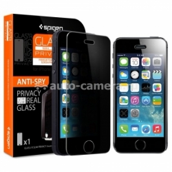 Защитный экран для iPhone 5 / 5S / 5C Spigen Screen Protector Glas.tR Slim Privacy (SGP10817)