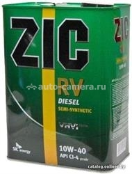 Масло ZIC 10W-40 RV 163129, 4л