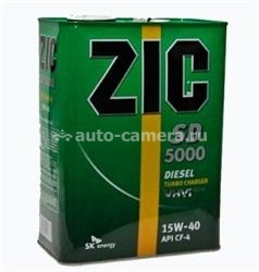 Масло ZIC 15W-40 SD 5000 163126, 4л