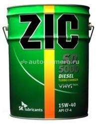 Масло ZIC 15W-40 SD 5000 193126, 20л